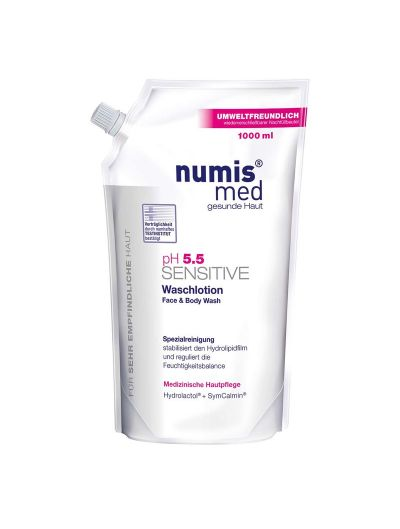 NUMIS MED - pH 5.5 SENSITIVE FACE & BODY WASH REFILL - 1000ML